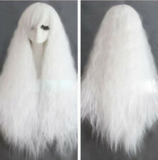 Cosplay Fashion Long Rhapsody white curly wave party Heat Resistant wig