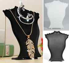 Pendant Necklace Chain Earring Jewelry Bust Mini Display Holder Stand Showcase H