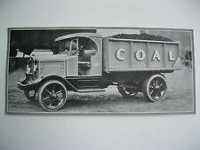 """VINTAGE 1920's SMALL  8"""" by 3 5/8"""" COAL TRUCK CALENDAR SAMPLE PRINT LITHO #8"""