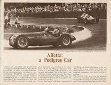 Alfa Romeo Alfetta 158 & 159 Racing History 1973 UK Market Sales Brochure