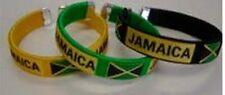 Jamaica Flag Bangle/Bracelets Black Green or Yellow (One Piece)