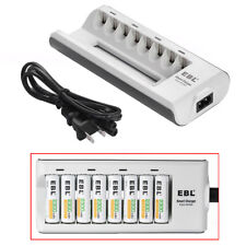 8 Slot Fast Charging Battery Charger For AA AAA NIMH NICD Rechargeable Battery