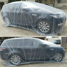 Transparent Car Cover PE Outdoor Waterproof Scratch Rain Snow Sun Resistant M