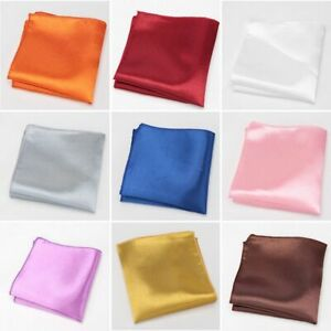 Men's Handkerchief Suits Pocket Square Accessories Polyester Solid Patterned New