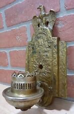 Antique Eagle Stars Wall Lamp Light Sconce nicely detailed old decorative art lt