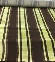 SUPER LUXURIOUS BROWN/GREEN CHENILLE UPHOLSTERY FABRIC 1.7 METRES