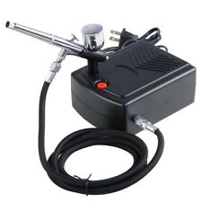 Dual Action Airbrush Compressor Kit 0.3mm Nozzle for Nail Art Tattoo CakeSpray