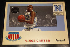 Vince Carter 2001 Fleer Greats of the Game ALL-AMERICAN Insert Card