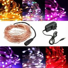 2/5/10/20M 50/100/180/200 LED Copper Wire String Fairy Light Strip Lamp Party