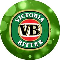 "VB Alcohol 7""/18cm Edible Image Cake, Cupcake Toppers /Pub/ Beer"