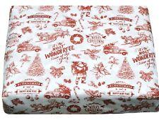Christmas Holiday Winter Theme Deep Pocket 4 pcs QUEEN Sheet Sets