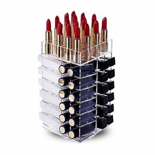 Lipstick Holder, HBlife Acrylic Rotating 64 Lipstick Tower Organizer Spinning