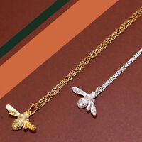 Halskette mit Biene Anhänger Sterlingsilber 925 Gold / Silber