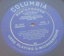 Stravinsky The Rite Of Spring Columbia ML 4092 Blue label LP