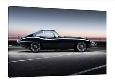 E-Type Jaguar - 30x20 Inch Canvas - Print Framed Picture Classic Car Art Work