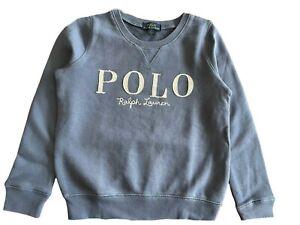 Girls Ex Ralph Lauren Polo Long Sleeved Sweatshirt Blue large 14 - 16  Genuine