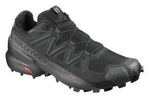 Salomon Men's Speedcross 5 Trail Running Shoes - Black/Black/Phantom - Size 11