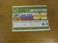31/05/1997 Ticket: Poland v England [In Chorzow] (folded). Bobfrankandelvis (aka