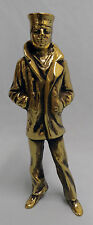 """US NAVY THE LONE SAILOR 7.75"""" INSIGNIA BRASS SHADOW BOX STATUE"""