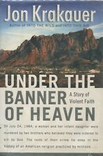 Under the Banner of Heaven Mormon True Crime Book LARGE PRINT Hardcover DJ
