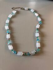 Blue Green White Necklace
