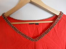 Bodyflirt Bluse, 48, rot mit Applikationen