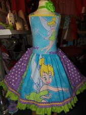 Vintage Fabric Tinker Bell  Fancy Dress  Girls Size 6