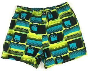 Quiksliver Board Shorts Swim Trunks Green Blue Black Men's Size XL #S50