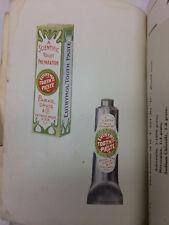 Vintage Parke Davis & Company Catalog Pharnaceutical Preparations for Dental Use