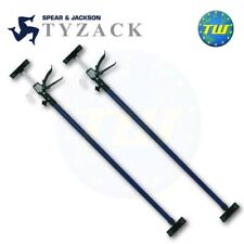 2x Spear & Jackson Tyzack Telescopic Extension Drywall Support Prop 2.90M 713A