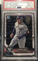 GLEYBER TORRES PSA 1/1 ROOKIE 2020 TOPPS ARCHIVES SIGNATURE AUTO BOWMAN CHROME