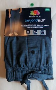 Fruit of the Loom Men's Blue Beyond Soft Sleep Pants-XL-Wicking-Very Soft