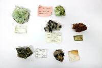 6 verschiedene Mineralien Calcit Apophyllit Gips Baryt Aragonit