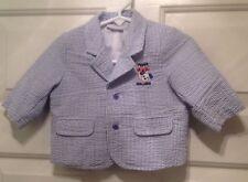 Nanna's Pet Infant Boys Blue Seersucker Lined Suit Jacket Size 3-6M