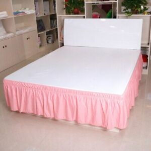 Pleated Bedding Skirt Without Surface Elastic Band  Bed King Size Ruffled Bed