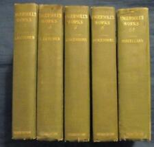 The Works Of Robert Ingersoll, HB 1902, Lot of 5, Vol. 2,3,5,6,12