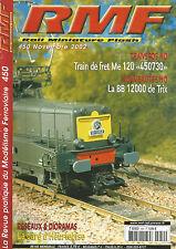 """RMF N° 450 TRAIN DE FRET ME 120 """"450730"""" / BB 12000 DE TRIX / GARE D'HEURTEBISE"""