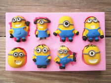 3D Minions Despicable Me Silicone Mould Fondant Cake Topper Modelling Tools Mold