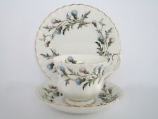 Set of 4, Royal Albert England Brigadoon Bone China Tea Cup and Saucer