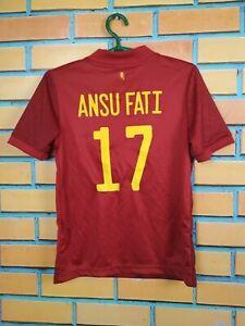 Ansu Fati Spain Jersey 2019 Home Kids Boys 11-12 y Shirt Red Adidas FI6237