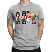 Mens VIPwees T-Shirt The Crue Heavy Metal Music 80s Band Caricature Gift Shirt