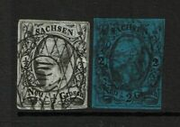 Saxony SC# 9 and 11, Used, Hinge Remnant - S8673