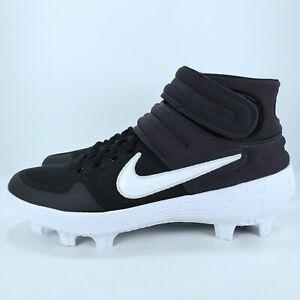 Nike Alpha Huarache Elite 2 Mid Men's Size 11 Baseball Cleats Black AO7966-001