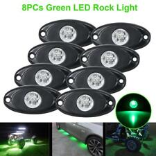 8PCS Green LED Rock Light Trail Fender Deck Glow Lamp Underbody Offroad For Jeep