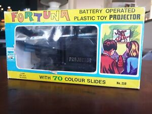 Fortuna Plastic Toy Projector with slide strips used c1960s