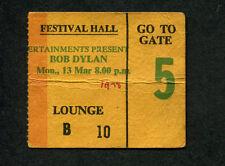 1978 Bob Dylan Concert Ticket Stub Brisbane Australia Street Legal Tour