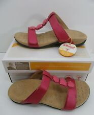 Orthaheel Albany T Strap Slide Sandals Raspberry Size US 8