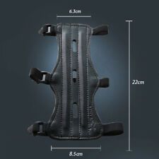 Black PU Leather Sports Archery Bow Arrow Arm Guard Protector W/Adjustable#b