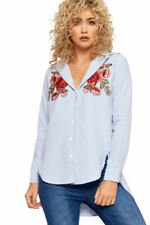 Camicia da donna Blu Floreale
