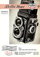 1956 ROLLEI ROLLEIFLEX 2.8D CAMERA LIGHT SCALE VALUE NEWS BROCHURE -ROLLEI